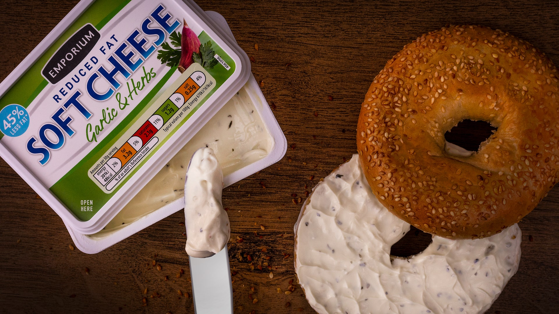 E-commerce Product Photography Limerick Ireland food bagels cream cheese